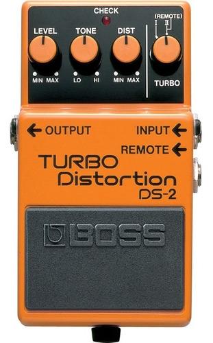 pedal boss ds-2 distorção para guitarra turbo distortion
