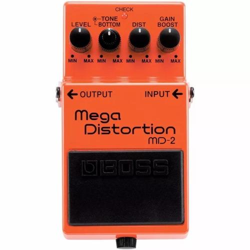 pedal boss md-2 guitarra distorção mega distortion md2