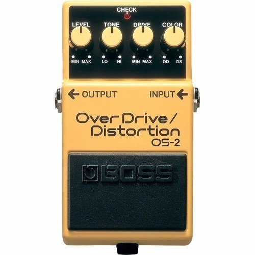 pedal boss os2 overdrive distortion + fonte hayonik kadu som