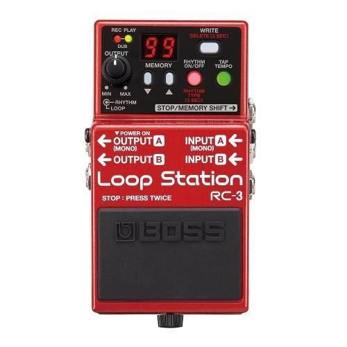 pedal boss rc3 loop station 99 memorias nota fiscal promoção