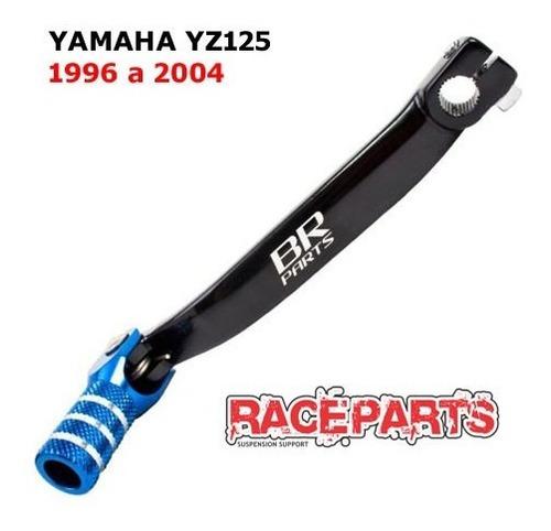 pedal cambio yamaha yz125 1996 97 98 99 01 2004 brparts azul