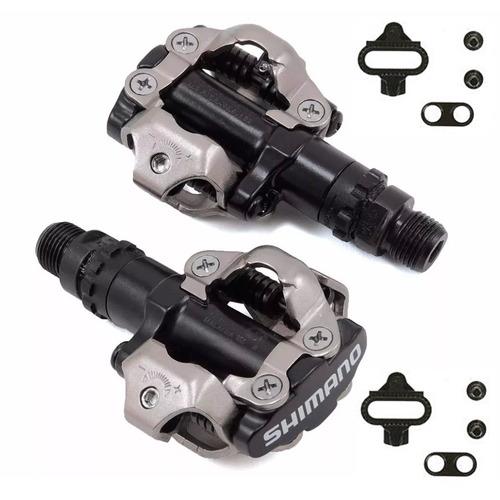 pedal clip shimano m520 com taquinhos preto c/ nota fiscal