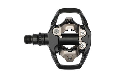 pedal clip shimano m530 mtb / speed preto com taquinho c/ nf