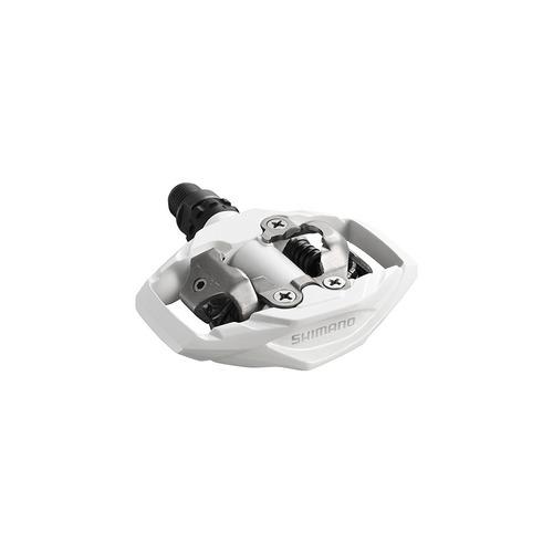 pedal clip shimano mtb pd-m530 branco bicicleta taquinhos
