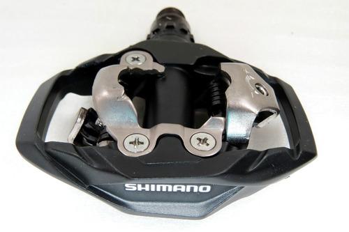 pedal clip shimano pd-m530 preto c/ taquinhos