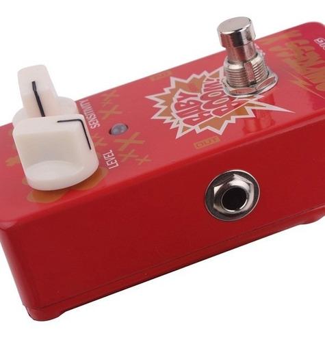 pedal compresor para guitarra o bajo biyang co10 true bypass