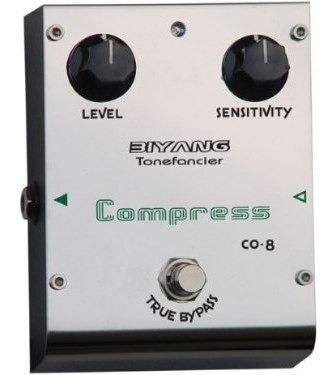 pedal compresor para guitarra o bajo biyang co8 true bypass