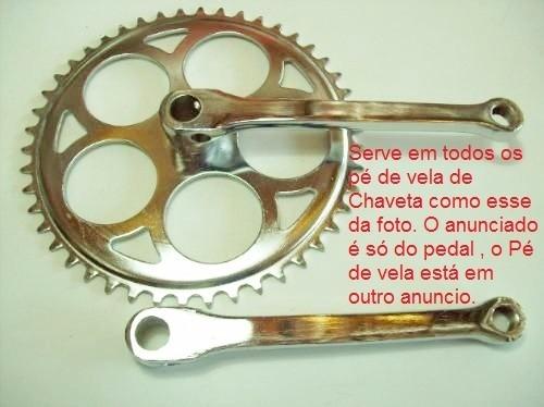 pedal de bicicleta modelo antigo 9/16 eixo grosso inglês