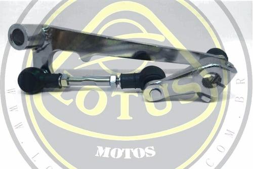 pedal de câmbio marcha completo dafra riva 150 mod orig 1290074 com nota