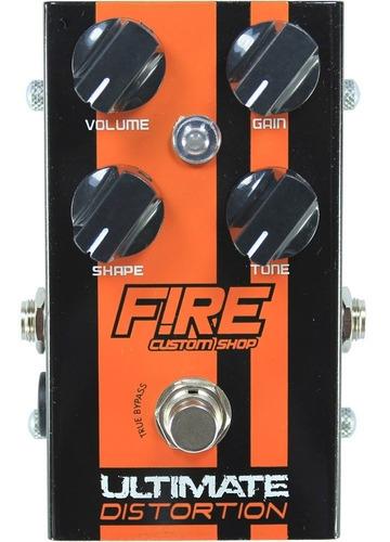 pedal de distorção - fire ultimate distortion custom shop