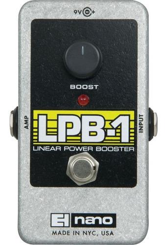 pedal de efecto booster electro harmonix nano lpb-1