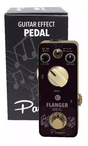 pedal de efecto flanger t/ mooer para guitarra bajo garantia