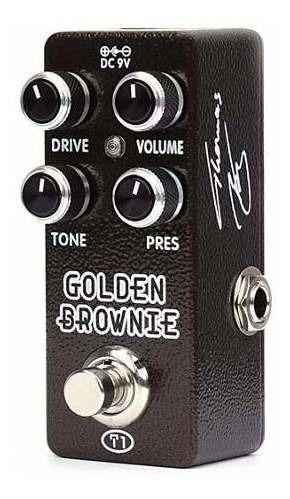 pedal de efecto golden brownie distortion xvive