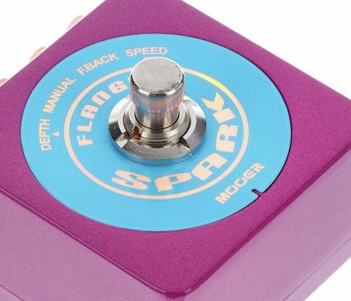 pedal de efecto mooer spark flanger