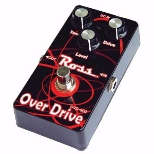 pedal de efecto overdrive para guitarra metalico controles