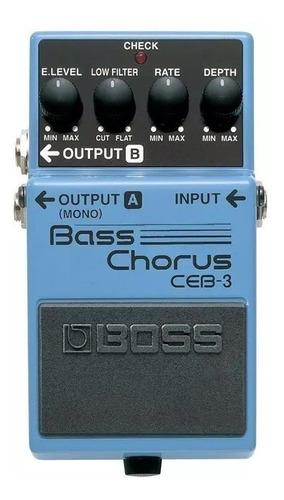 pedal de efecto para bajo ceb-3 boss