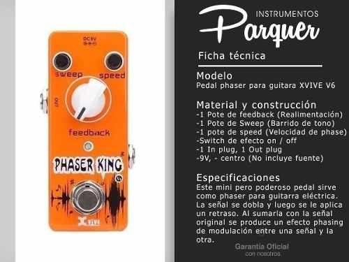 pedal de efecto phaser king xvive v6 para guitarra electrica