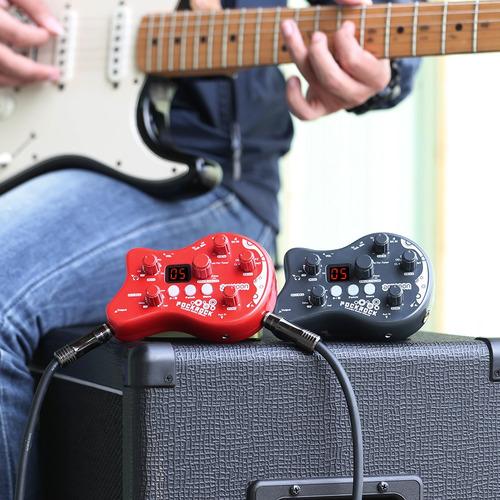 pedal de efectos ammoon pockrock portátil rojo