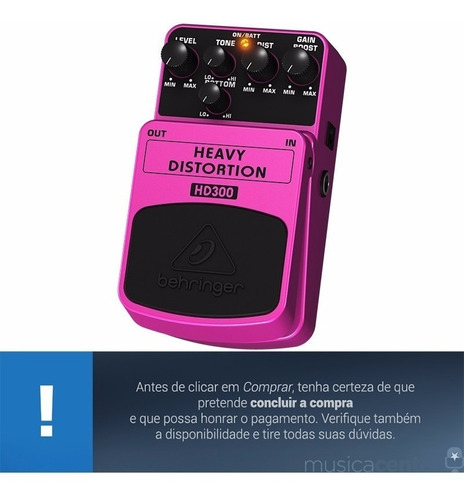 pedal de guitarra distorção heavy distortion behringer hd300