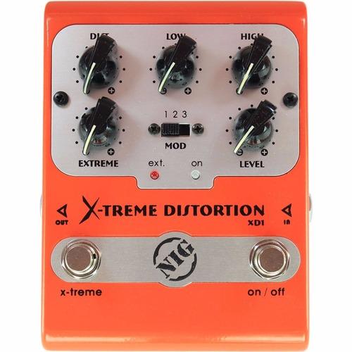 pedal de guitarra nig xd1 x-treme distorção perfeito