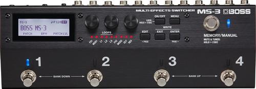 pedal de guitarra seletor ms 3 boss ms3 112 efeitos com nota