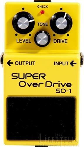 pedal de guitarra super over drive boss sd1