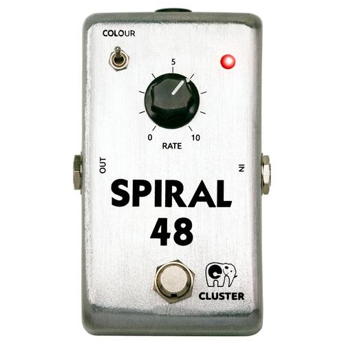 pedal de phaser analógico p/ guitarra   cluster spiral-48