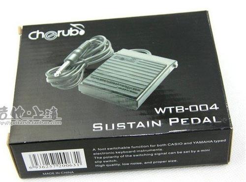 pedal de sustain cherub wtb-004 para teclados yamaha y casio