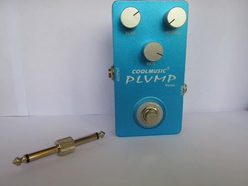 pedal delay analogico coolmusic plump + brinde
