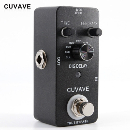 pedal digital delay 9 tipos - cuvave true bypass - guitarra