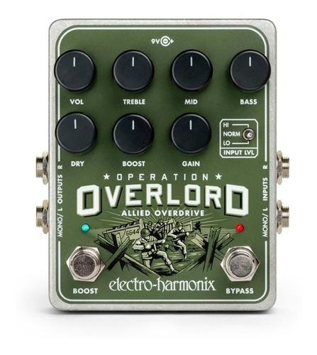pedal distorsion electro harmonix operation overlord