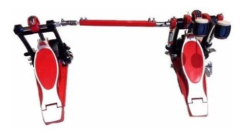 pedal doble de bombo evolution rojo parquer 93050dred