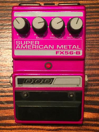 pedal dod fx56-b super american metal (muy raro sin uso)