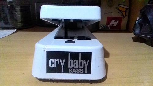 pedal dunlop 105q cry baby wah bass branco