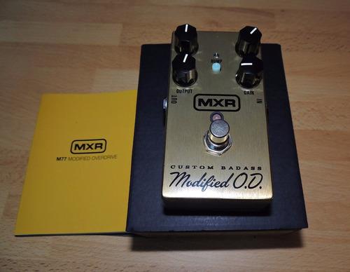 pedal dunlop mxr m77 - custom badass modified od promoção