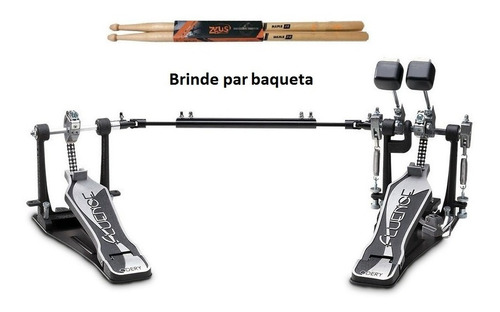pedal duplo bateria odery fluence pd-802fl