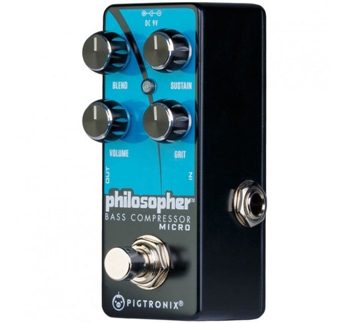 pedal efecto bajo pigtronix philosopher bass comp micro