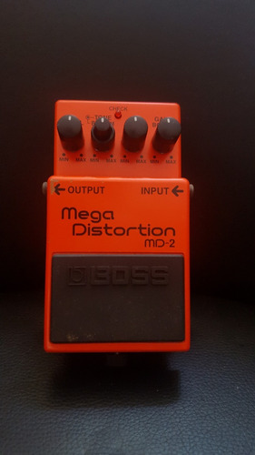 pedal efecto boss md-2 overdrive distorsion guitarra
