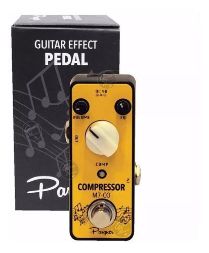 pedal efecto compresor model mooer guitarra electrica bajo