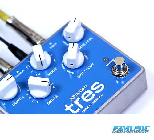 pedal efecto guitarra electrica dedalo trs 5 tres v tremolo