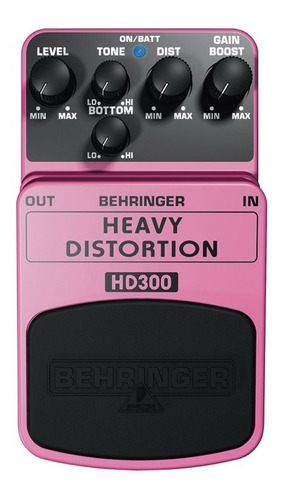 pedal efecto heavy distortion behringer hd300