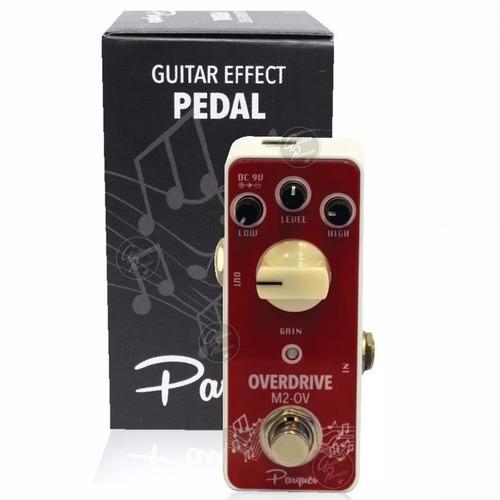 pedal efecto overdrive modelo mooer guitarra electrica bajo