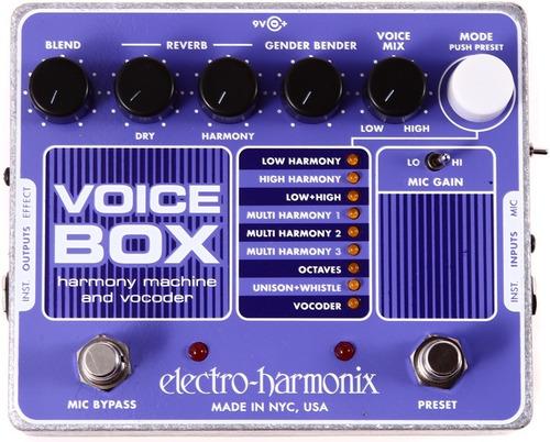 pedal electro harmonix voice box vocoder para guitarra