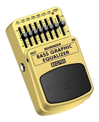 pedal equalizador contrabaixo beq700 -behringer +nf+garantia