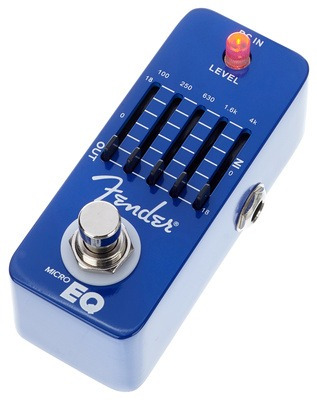 pedal fender micro eq ecualizador - booster clean