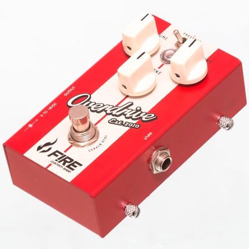 pedal fire custom shop new overdrive + cabo e palheta fender