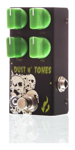 pedal fire dust and tones overdrive de alto ganho + brindes