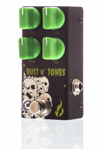 pedal fire dust and tones overdrive de alto ganho e sustain