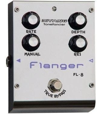 pedal flanger para guitarra biyang fl8 análogo true bypass
