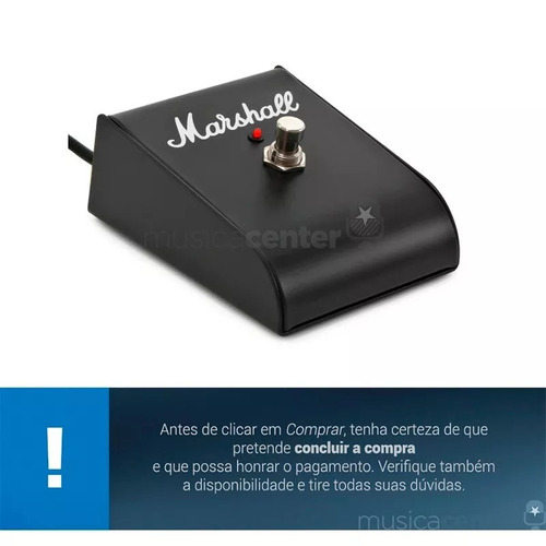 pedal footswitch marshall pedl 00001 para amplificador